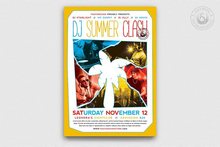DJ Summer Clash Flyer Template example image 1