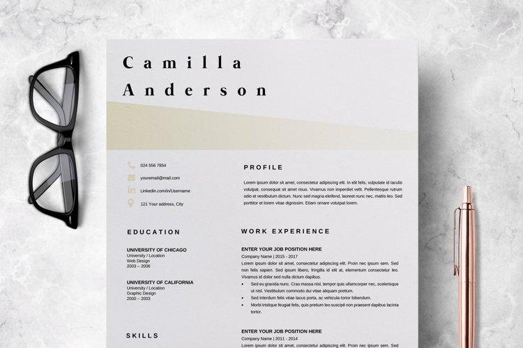 Resume Template   CV Template - Camilla Anderson