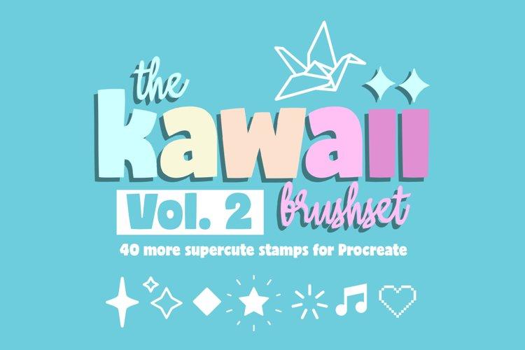 Procreate Brushes | Cute Procreate Stamps, Kawaii Brushset 2