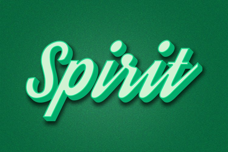 Spirit Editable Photoshop Text Style Effect example image 1