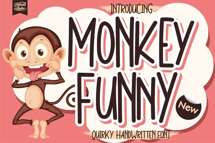 Monkey Funny - Quirky Handwritten Font example image 1