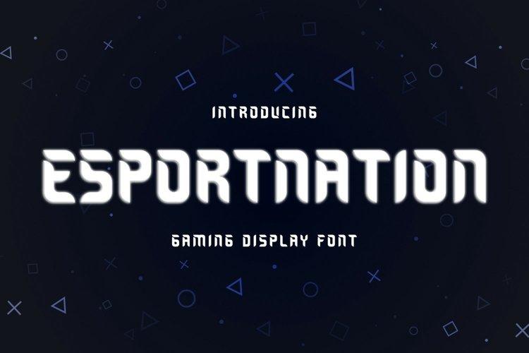 ESPORTNATION Font example image 1