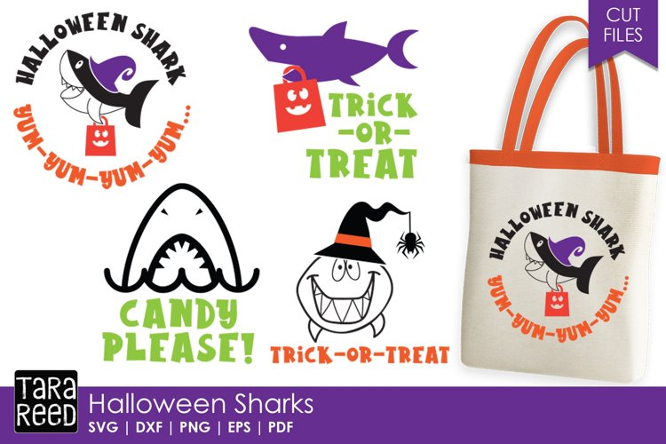 Halloween Sharks - Halloween SVG and Cut Files for Crafters
