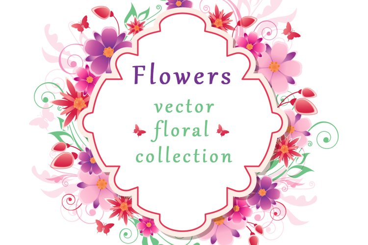 Set of Decorative Floral Elements example image 1