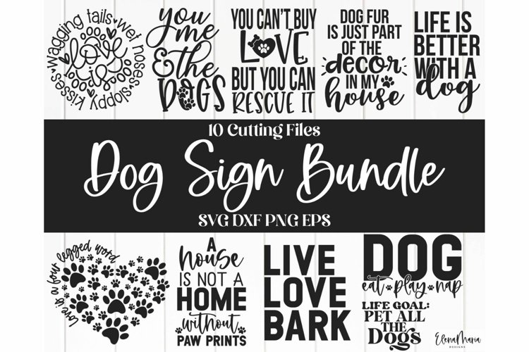 Dog Bundle | Home Sign Svg Files and Cut Files For Crafting example image 1