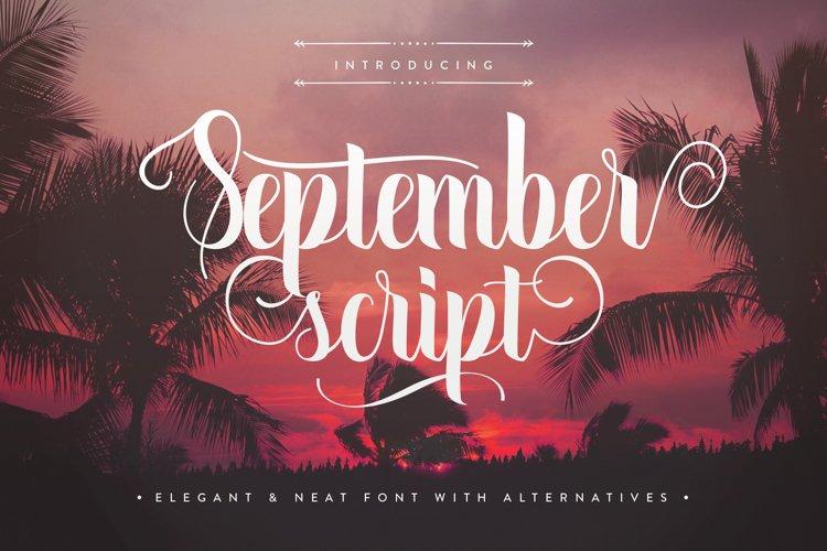 September Script example