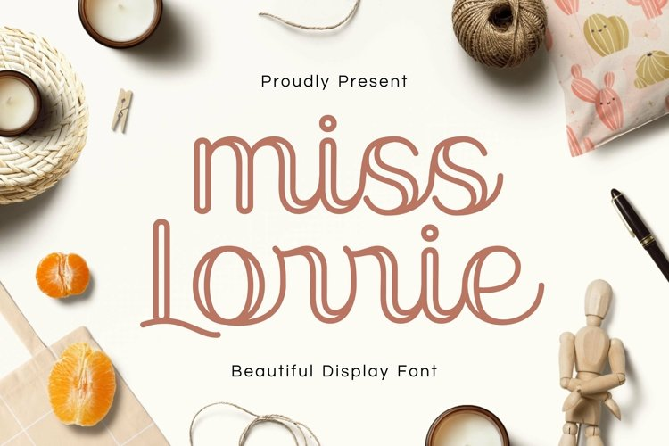 Web Font Miss Lorrie example image 1