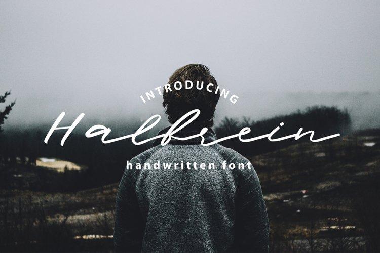 Halbrein || Multilingual Handwritten Script Font example image 1
