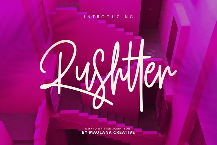 Rushtter Signature Font example image 1