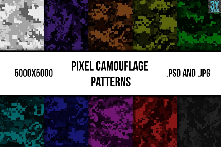 Pixel Camouflage Patterns