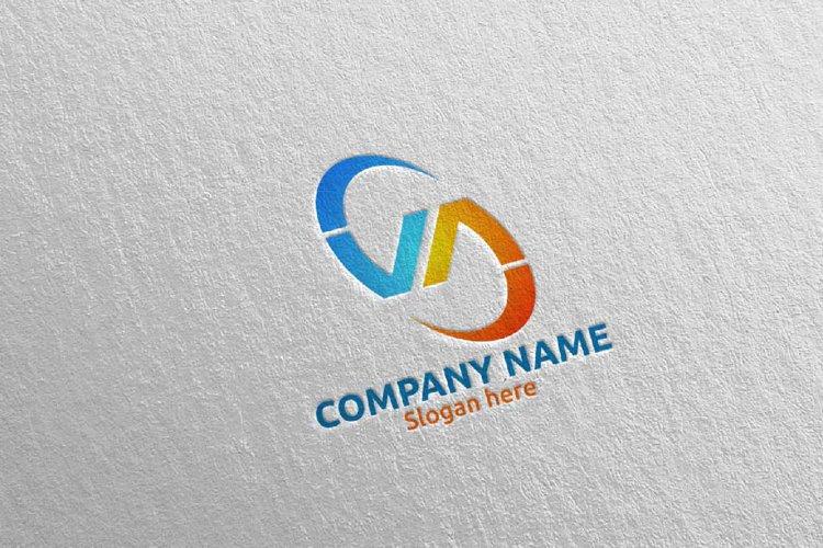 Letter V, A, VA Logo Design 66 example image 1