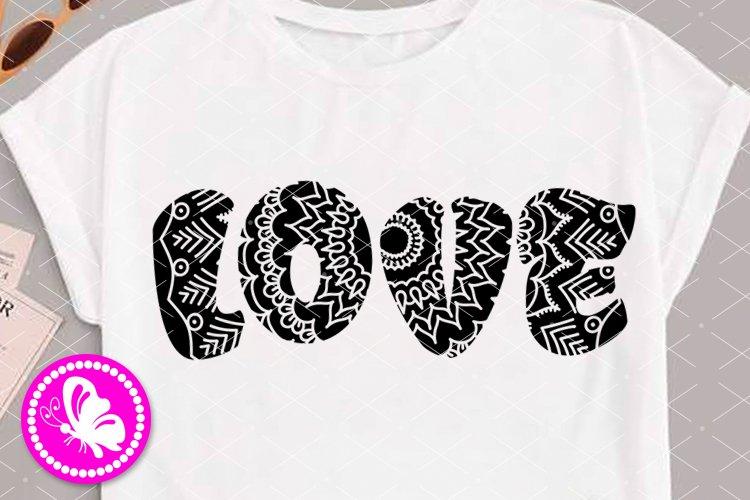 Love sign svg Zentangle art Mandala clip art Girls shirt Png example image 1