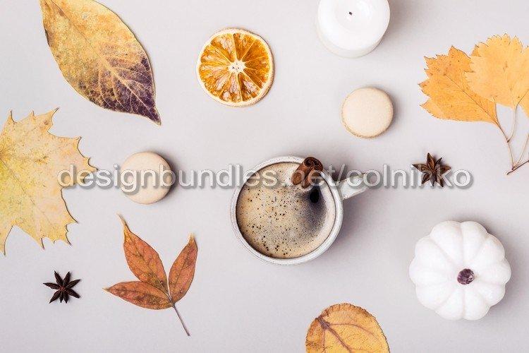 Autumn flat creative composition example image 1