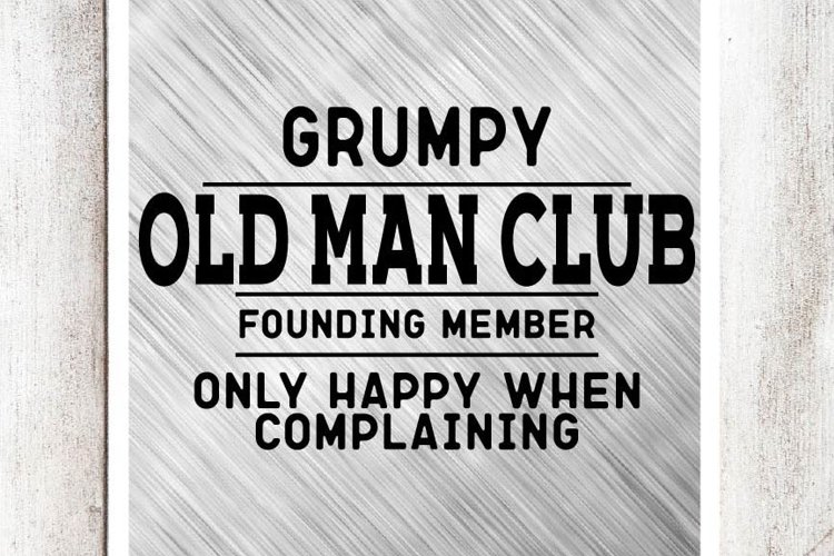 Grumpy Old Man SVG/DXF/EPS File example image 1