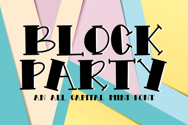 Block Party - An All Caps Mini Font example image 1