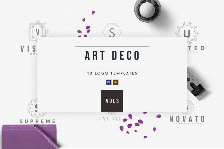 Art Deco Logo Templates | Vol.3 example image 1