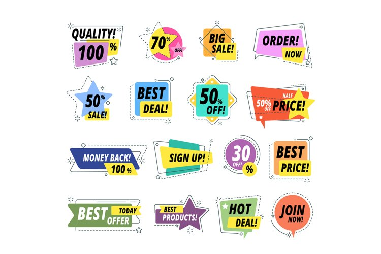 Sale quality badges. Assured label badge. Promo sticker excl example image 1