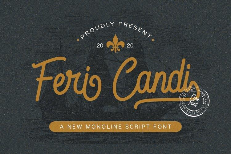Feri Candi - Monoline Script Font example image 1