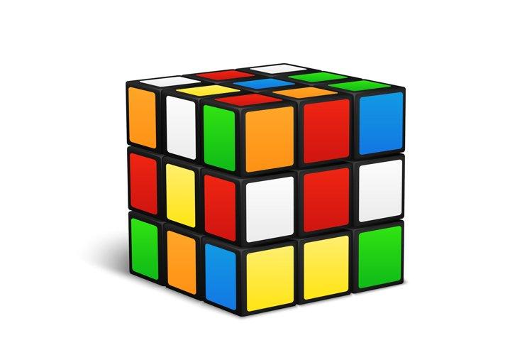 Rubik cube logic game vector illustration example image 1