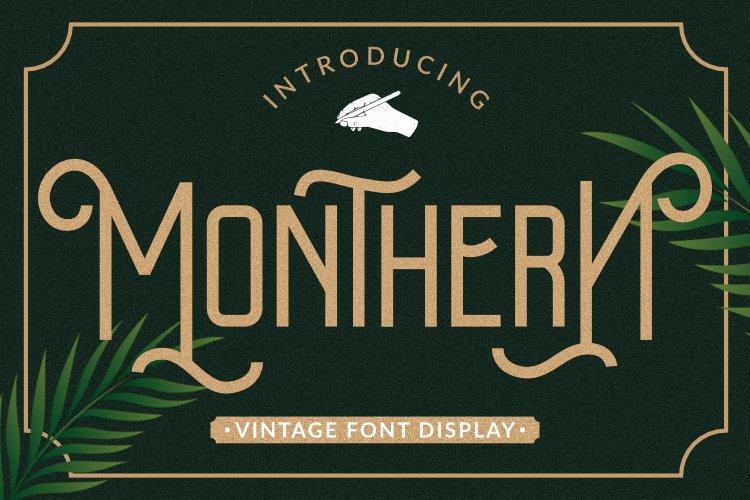 Monthren Font example image 1