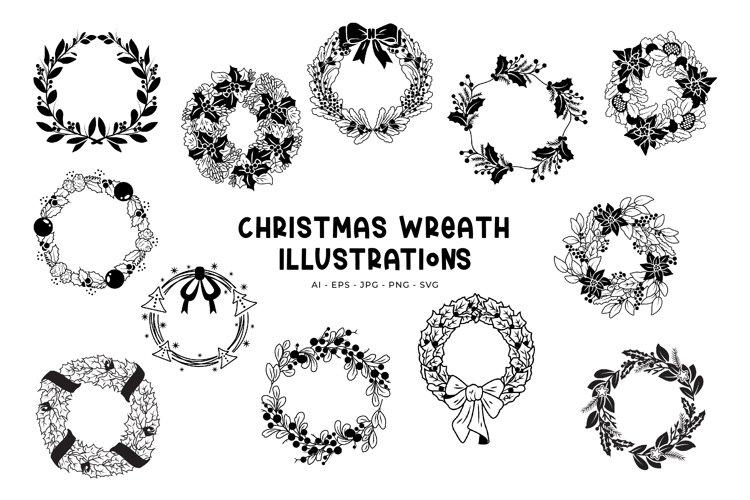 Christmas Wreaths illustrations