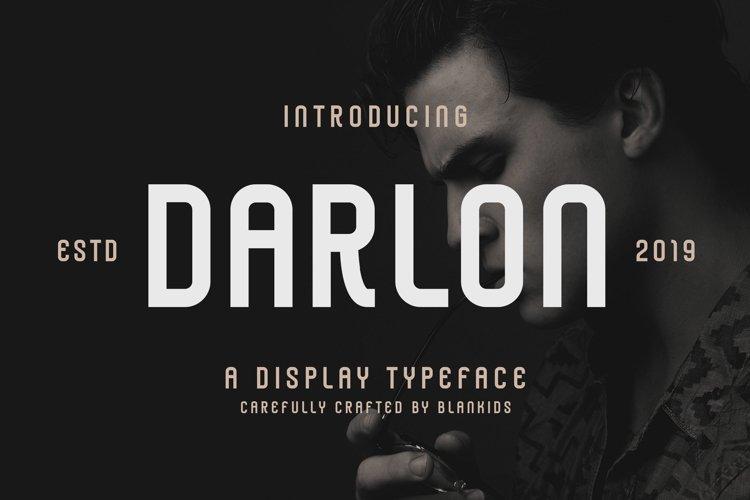 Darlon - Sport Typeface example image 1