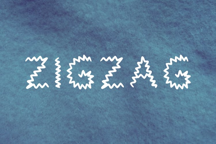 Zigzag handwritten font in tff and otf example image 1