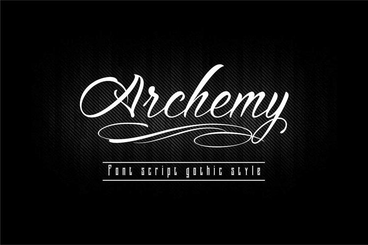 Archemy Font Script example image 1