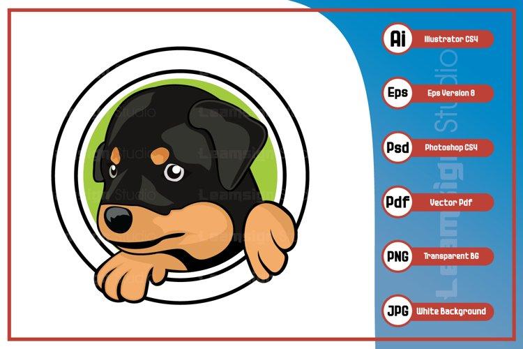 Dog head logo character illustration example image 1