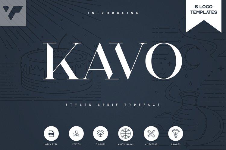Kavo Styled Serif Typeface | 5 fonts example image 1