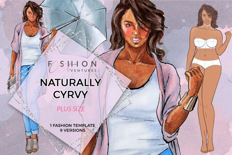 Naturally Curvy Fashion Croqui- Downloadable printable