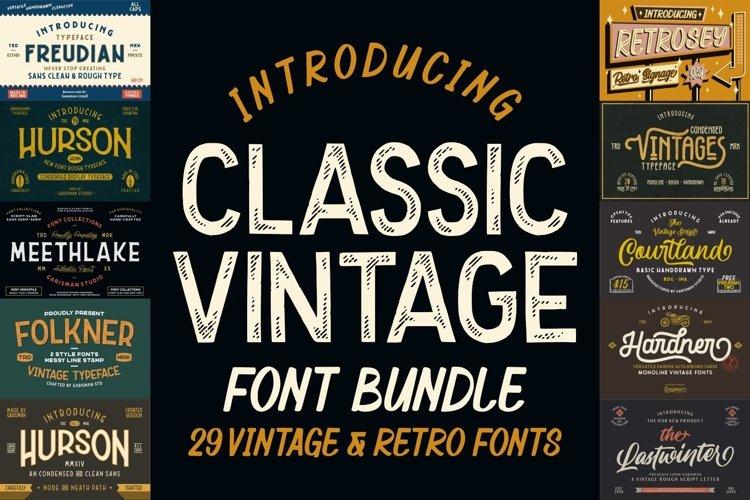 THE CLASSIC VINTAGE Font Bundles example image 1