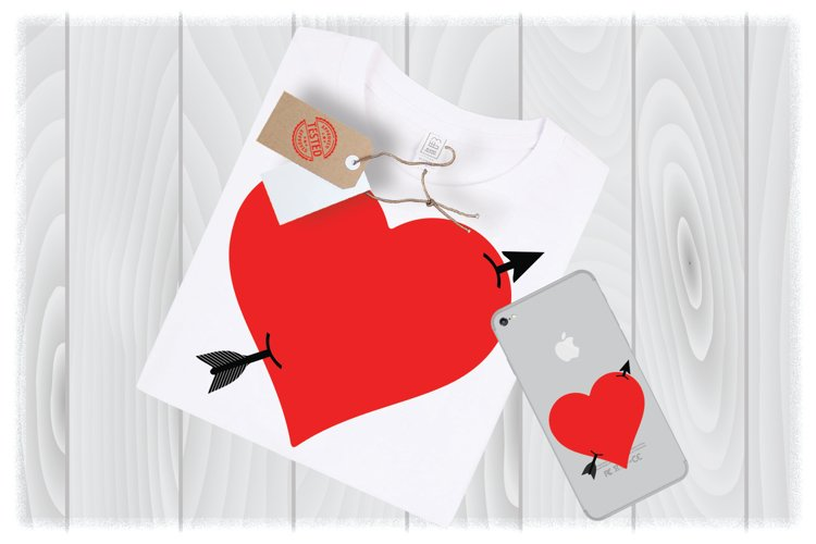 Arrow Heart SVG Files for Cricut Designs | Valentines SVG example image 1