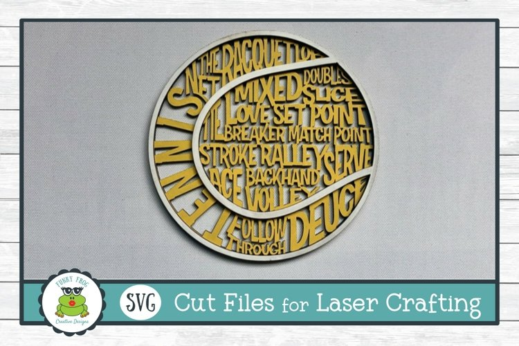 Tennis Ball Word Art Laser Cut SVG File for Laser Crafting