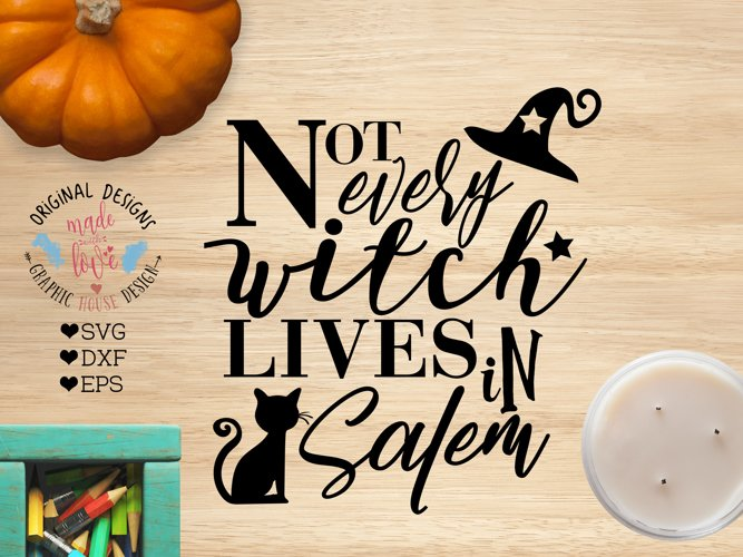 Not every witch Lives in Salem Halloween Cut File example image 1