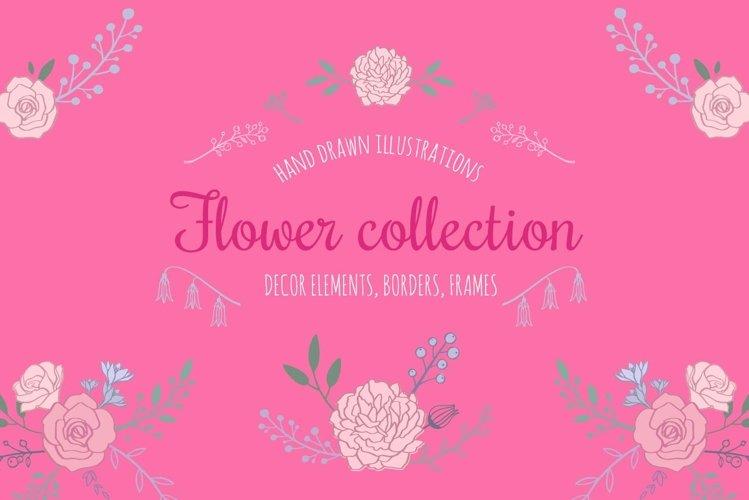 Floral botanical wedding illustrations set example image 1