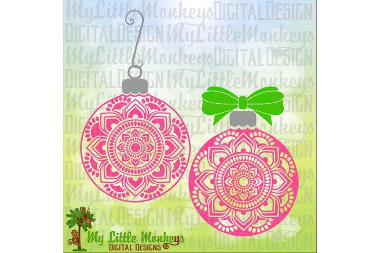 Mandala Flower Christmas Ornament example image 1