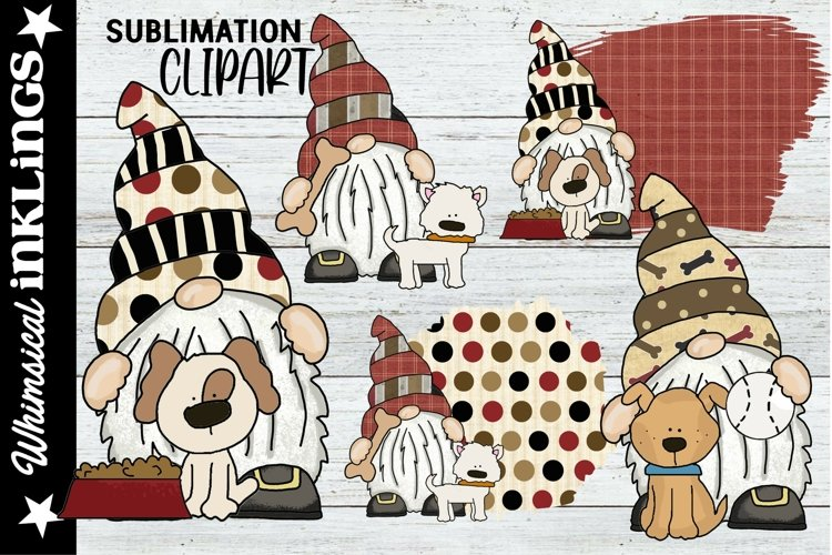 Doggy Gnomes Sublimation Clipart