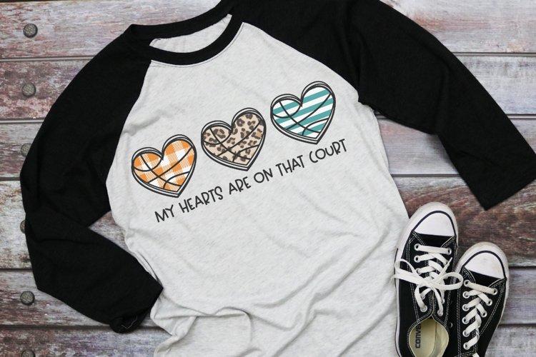 Basketball Mom - Basketball Heart Trio - Basketball SVG