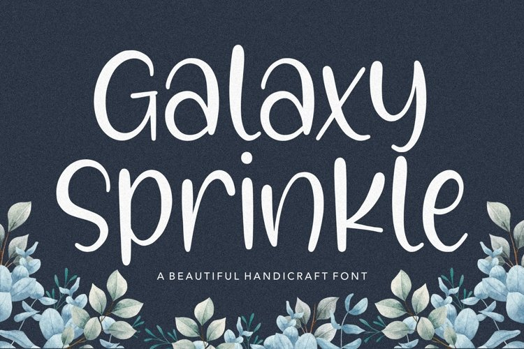 Galaxy Sprinkle Beautiful Handcraft Font example image 1