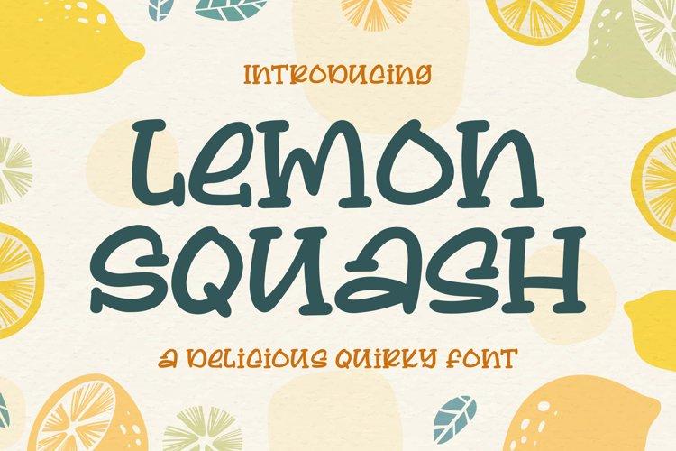 Lemon Squash - a Delicious Qirky Font example image 1