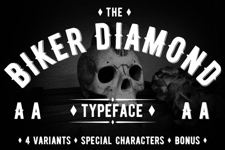 Biker Diamond Typeface