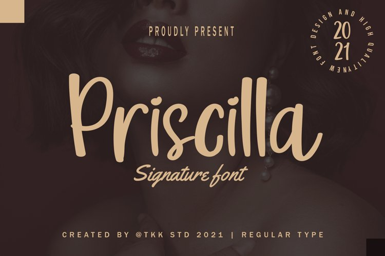 Priscilla - Cute Girly Font example image 1