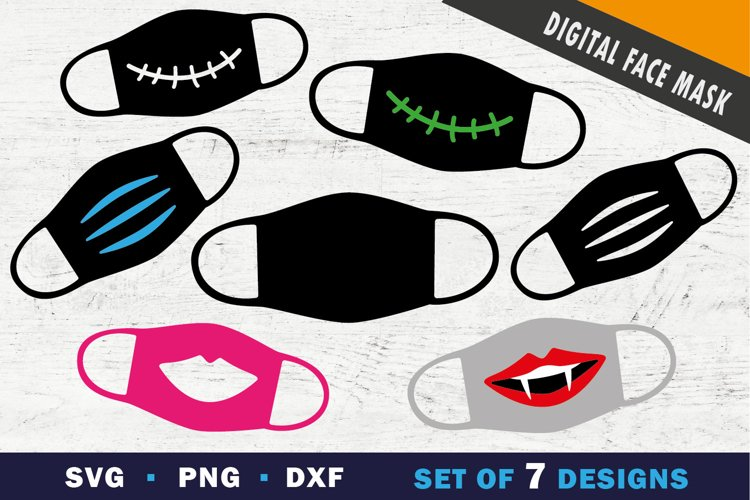 Funny face mask svg, png, svg cut file example image 1