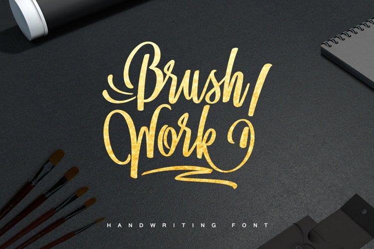 BrushWork TypeFace example image 1