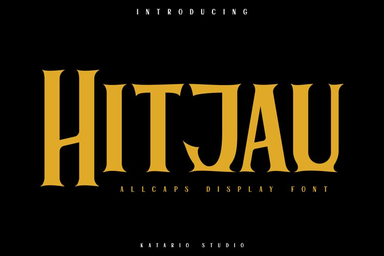 Hitjau | Allcaps Display Font example image 1