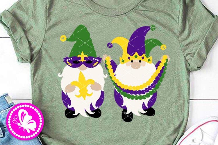 Mardi Gras Gnomes svg Mask Beads Fleur de lis Png Cricut example image 1