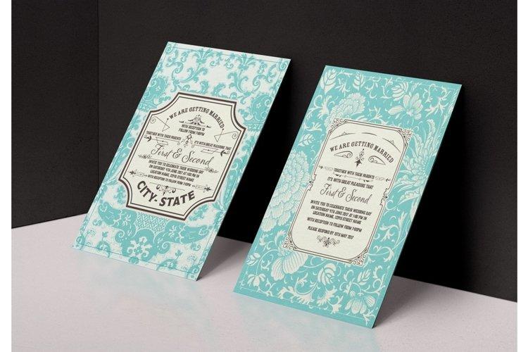 Vintage Wedding Invitation example image 1