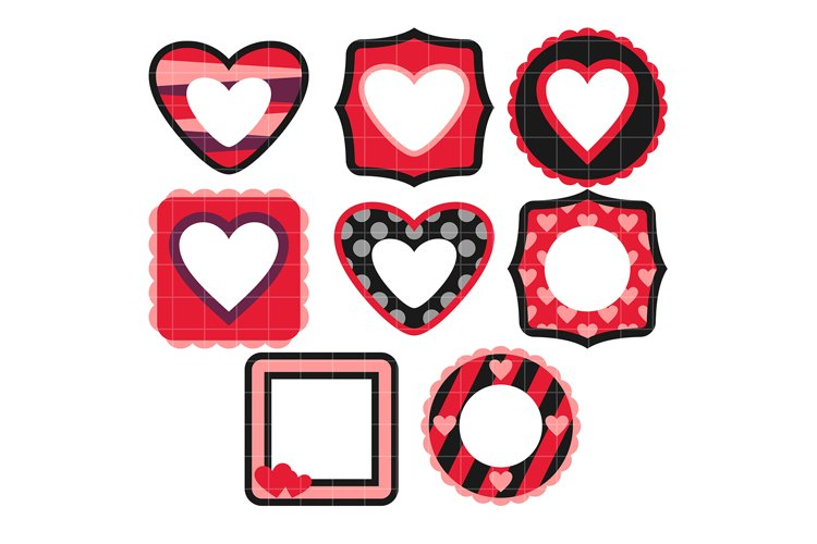 Valentines Day Frames example image 1
