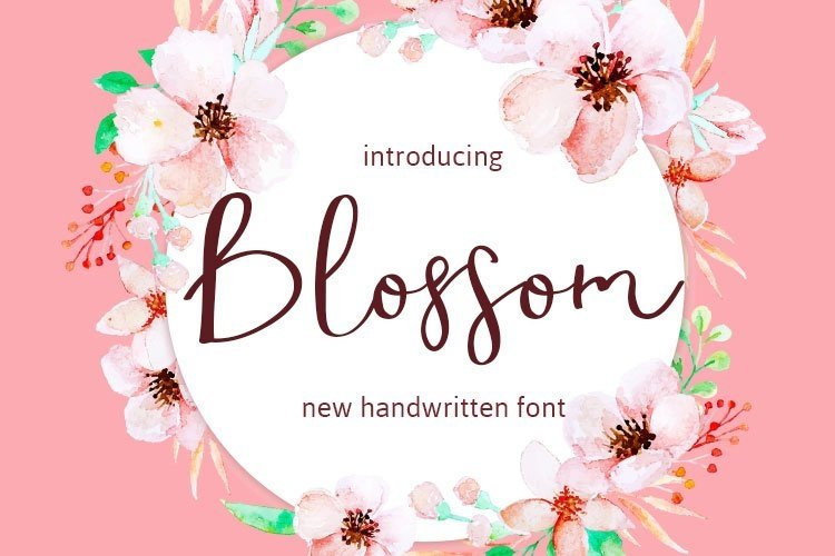 Web Font Blossom example image 1